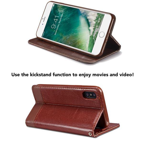 NALIA Klapphülle kompatibel mit iPhone 8 Plus / 7 Plus, Slim Kickstand Handyhülle Flip-Case Kunst-Leder Cover Magnet Etui Schutz Dünne Rundum Handy-Tasche Bumper – Bild 17