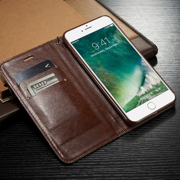 NALIA Klapphülle kompatibel mit iPhone 8 Plus / 7 Plus, Slim Kickstand Handyhülle Flip-Case Kunst-Leder Cover Magnet Etui Schutz Dünne Rundum Handy-Tasche Bumper – Bild 21