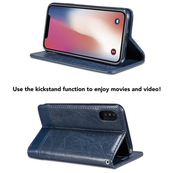 NALIA Klapphülle kompatibel mit iPhone X XS, Slim Hülle Kickstand Handyhülle Flip-Case Kunst-Leder Cover mit Magnet, Etui Schutz Dünne Rundum Handy-Tasche Ganz Bumper – Bild 10