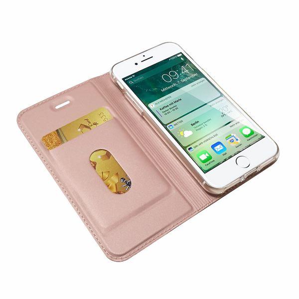 NALIA Klapphülle für Apple iPhone 8 / 7, Slim Kickstand Handyhülle Flip-Case Kunstleder Cover mit Magnet Etui Ganzkörper Schutz Dünne Rundum Handy-Tasche Bumper für i-P 7 / 8 – Bild 8