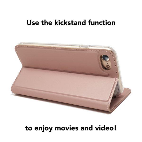 NALIA Klapphülle für Apple iPhone 8 / 7, Slim Kickstand Handyhülle Flip-Case Kunstleder Cover mit Magnet Etui Ganzkörper Schutz Dünne Rundum Handy-Tasche Bumper für i-P 7 / 8 – Bild 3