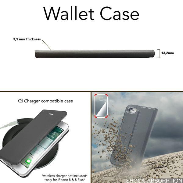 NALIA Klapphülle für Apple iPhone 8 / 7, Slim Kickstand Handyhülle Flip-Case Kunstleder Cover mit Magnet Etui Ganzkörper Schutz Dünne Rundum Handy-Tasche Bumper für i-P 7 / 8 – Bild 6