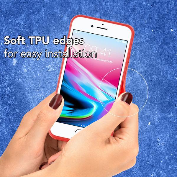 NALIA Handyhülle kompatibel mit iPhone 8 Plus / 7 Plus, Slim Hard-Case Durchsichtig Rückseite Transparent & Silikon Bumper, Schutz Etui Dünn Handy-Tasche Back-Cover – Bild 6