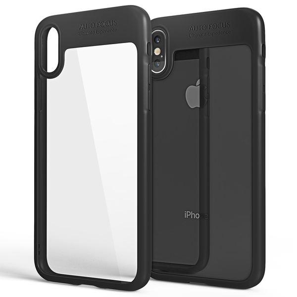 NALIA Hülle kompatibel mit iPhone X XS, Durchsichtiges Handyhülle Slim Hard-Case Transparente Rückseite & Silikon Bumper, Schutzhülle Etui Dünn, Handy-Tasche Back-Cover – Bild 9