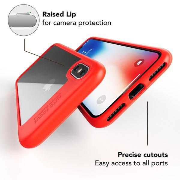NALIA Hülle kompatibel mit iPhone X XS, Durchsichtiges Handyhülle Slim Hard-Case Transparente Rückseite & Silikon Bumper, Schutzhülle Etui Dünn, Handy-Tasche Back-Cover – Bild 3
