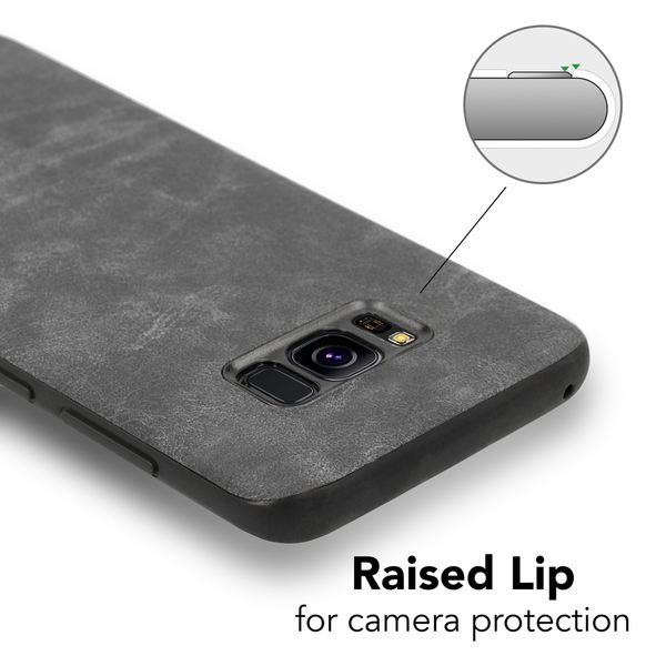 NALIA Kunstleder Handyhülle kompatibel mit Samsung Galaxy S8 Plus, stoßfeste Schutzhülle Case, Dünne Handyhülle Handy-Tasche, Slim Soft-Cover Backcover Phone Etui Smartphone Bumper – Bild 3