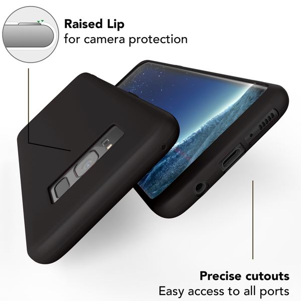 NALIA Rahmen-Schutz Handyhülle kompatibel mit Samsung Galaxy S8, Hülle Silikon Case weich Dünn, Handy-Tasche Kanten vorne & Rückseite, Ultra-Slim Bumper Smart-Phone Back-Cover Etui – Bild 4