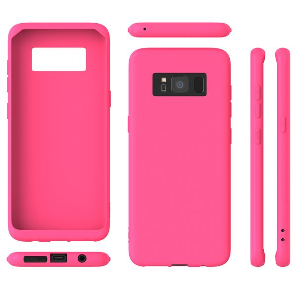NALIA Handyhülle kompatibel mit Samsung Galaxy S8 Plus, Rahmen-Schutz Hülle Silikon Case Dünn, Handy-Tasche Kanten vorne & Rückseite, Ultra-Slim Bumper Smart-Phone Back-Cover Etui – Bild 6