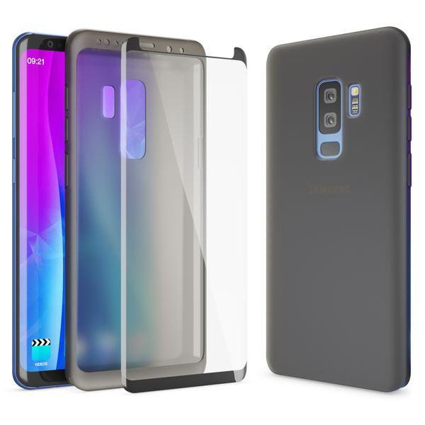 NALIA 360 Grad Hülle kompatibel mit Samsung Galaxy S9 Plus, Full Cover Handyhülle mit Schutzglas Doppel-Schutz, Dünnes Case Silikon Etui, Transparenter Displayschutz & Rückseite  – Bild 2