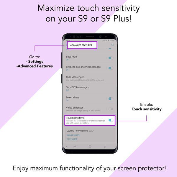 NALIA 360 Grad Hülle kompatibel mit Samsung Galaxy S9 Plus, Full Cover Handyhülle mit Schutzglas Doppel-Schutz, Dünnes Case Silikon Etui, Transparenter Displayschutz & Rückseite  – Bild 10