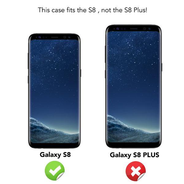 NALIA Klapphülle kompatibel mit Samsung Galaxy S8, Slim Kickstand Handyhülle Flip-Case Kunst-Leder Cover mit Magnet, Etui Ganzkörper Schutz Dünne Rundum Handy-Tasche Bumper – Bild 5