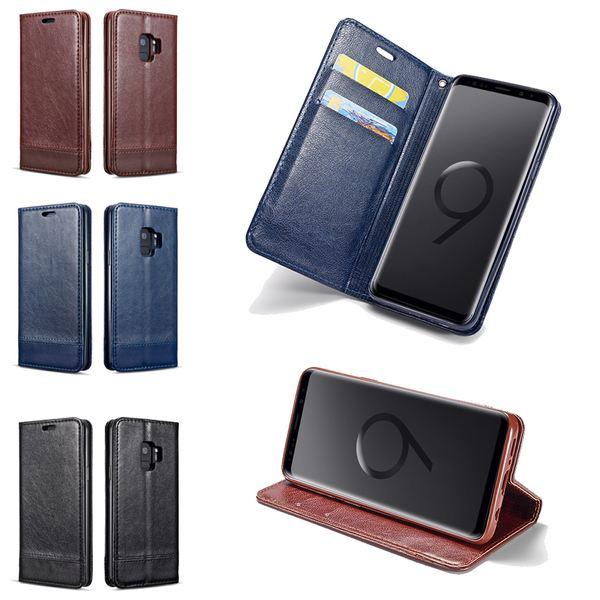 NALIA Handyhülle kompatibel mit Samsung Galaxy S9 Plus, Slim Kickstand Handyhülle Flip-Case Kunst-Leder Cover mit Magnet, Etui Ganzkörper Schutz Dünne Rundum Handy-Tasche Bumper – Bild 1