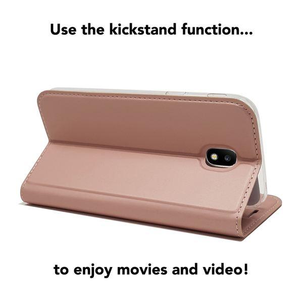 NALIA Klapphülle kompatibel mit Samsung Galaxy J5 2017, Slim Kickstand Handyhülle Flip-Case Kunstleder Cover mit Magnet Ganzkörper Schutz Dünne Rundum Handy-Tasche Etui – Bild 3