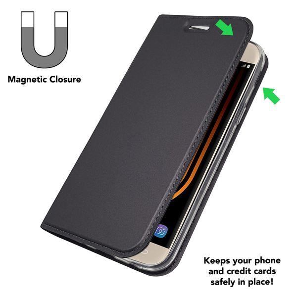 NALIA Klapphülle kompatibel mit Samsung Galaxy J7 2017, Slim Kickstand Handyhülle Flip-Case Kunstleder Cover mit Magnet Ganzkörper Schutz Dünne Rundum Handy-Tasche Etui – Bild 11