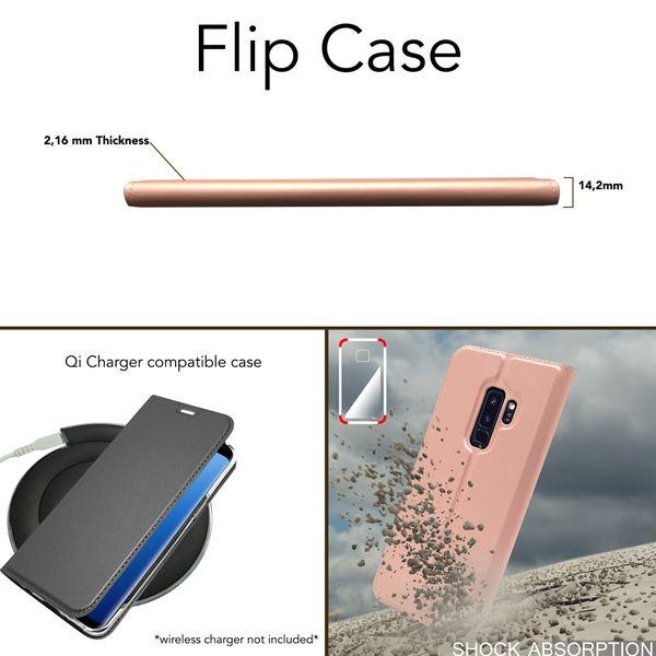 NALIA Handyhülle kompatibel mit Samsung Galaxy S9 Plus, Slim Kickstand Handyhülle Flip-Case Kunstleder Cover mit Magnet Etui Ganzkörper Schutz Dünne Rundum Handy-Tasche Etui – Bild 5