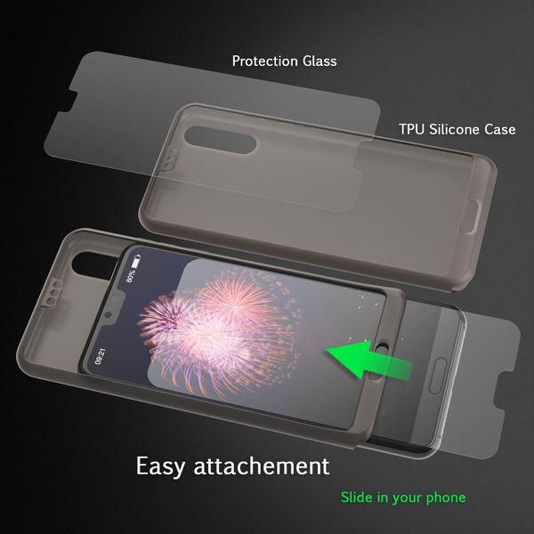 NALIA 360 Grad Hülle für Huawei P20, Full Cover Handyhülle mit Schutzglas Rundum Doppel-Schutz, Dünnes Ganzkörper Case Silikon Etui, Transparenter Displayschutz & Rückseite  – Bild 11