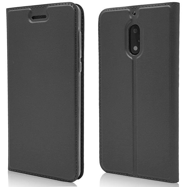 NALIA Klapphülle kompatibel mit Nokia 6, Slim Kickstand Handyhülle Flip-Case Kunstleder Book-Cover mit Magnet, Etui Ganzkörper Schutz Dünne Rundum Handy-Tasche Bumper – Bild 8