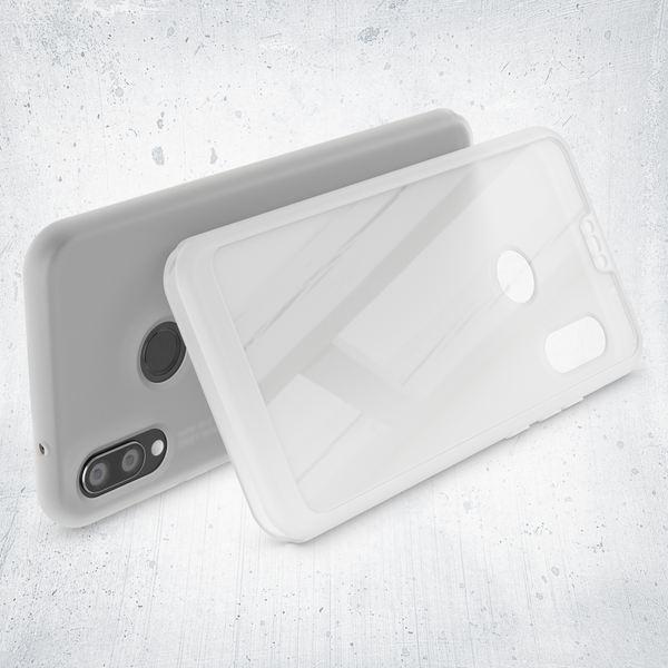 NALIA 360 Grad Hülle kompatibel mit Huawei P20 Lite, Full Cover Handyhülle mit Schutzglas Doppel-Schutz, Dünnes Case Silikon Etui, Transparenter Displayschutz & Rückseite  – Bild 17