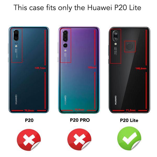 NALIA 360 Grad Hülle kompatibel mit Huawei P20 Lite, Full Cover Handyhülle mit Schutzglas Doppel-Schutz, Dünnes Case Silikon Etui, Transparenter Displayschutz & Rückseite  – Bild 19