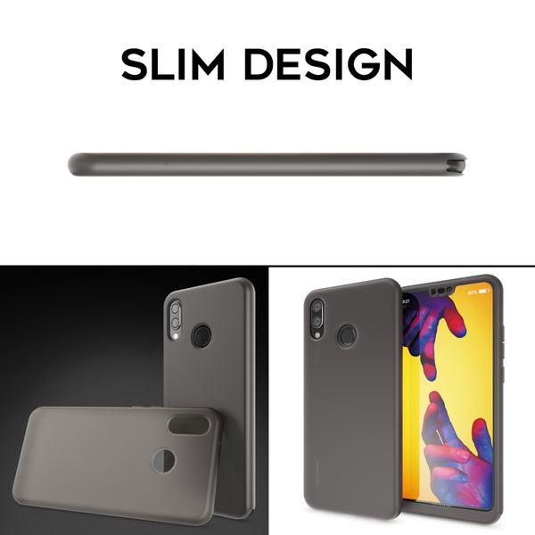 NALIA 360 Grad Hülle kompatibel mit Huawei P20 Lite, Full Cover Handyhülle mit Schutzglas Doppel-Schutz, Dünnes Case Silikon Etui, Transparenter Displayschutz & Rückseite  – Bild 15