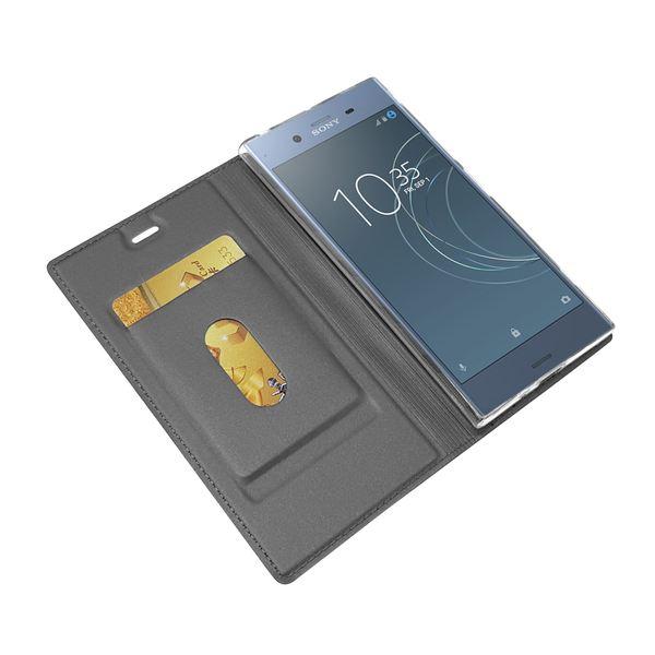 NALIA Klapphülle kompatibel mit Sony Xperia XZ1, Slim Kickstand Handyhülle Flip-Case Kunstleder Book-Cover Magnet Etui Ganzkörper Schutz Dünne Back Rundum Handy-Tasche Etui – Bild 12