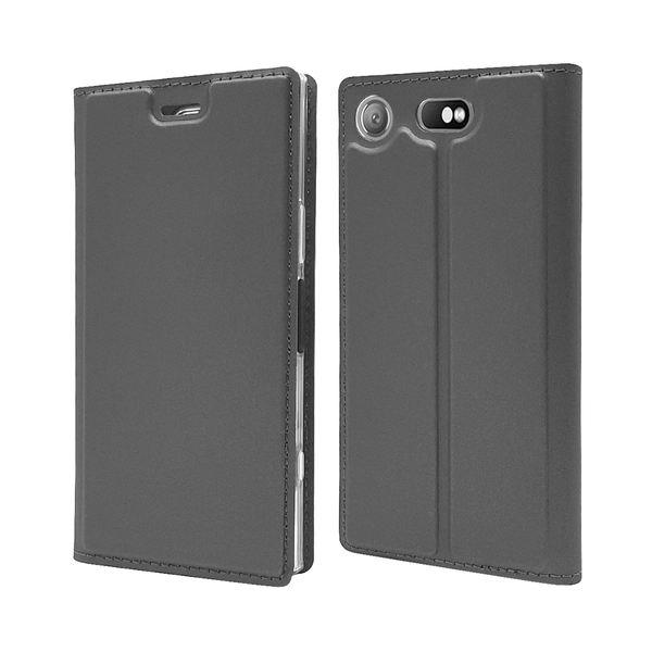 NALIA Klapphülle kompatibel mit Sony Xperia XZ1 Compact, Slim Kickstand Handyhülle Case Kunstleder Cover Magnet Etui Ganzkörper Schutz Dünne Rundum Handy-Tasche Etui – Bild 13