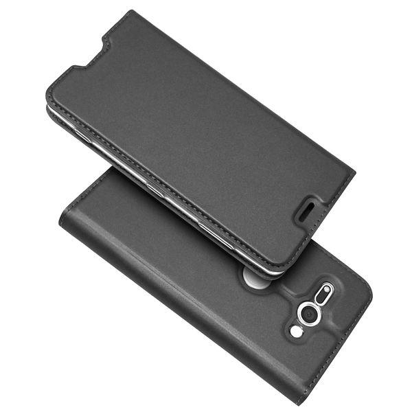 NALIA Klapphülle kompatibel mit Sony Xperia XZ2 Compact, Slim Kickstand Handyhülle Flip-Case Kunstleder Cover Magnet Ganzkörper Schutz Dünne Rundum Handy-Tasche Etui – Bild 13