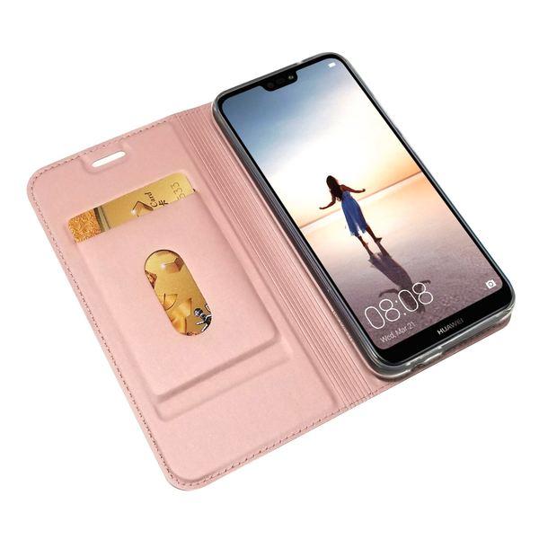 NALIA Klapphülle kompatibel mit Huawei P20 Lite, Slim Kickstand Handyhülle Case Kunstleder Book-Cover mit Magnet, Etui Ganzkörper Schutz Dünne Rundum Handy-Tasche Bumper – Bild 6