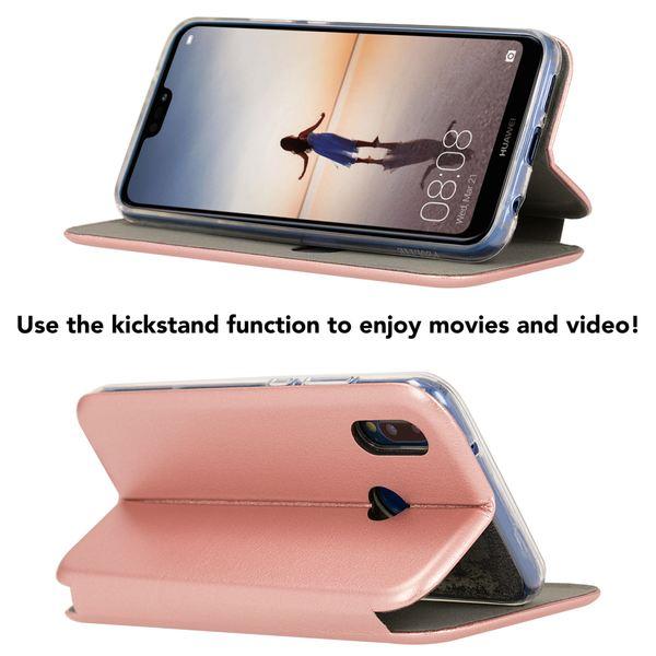 NALIA Klapphülle für Huawei P20 Lite, Slim Handy-Hülle Flip-Case Kunst-Leder Cover mit Magnet, Wallet Etui Ganzkörper Schutz Dünne Hinten Vorne Rundum Handy-Tasche Bumper für P20Lite – Bild 9