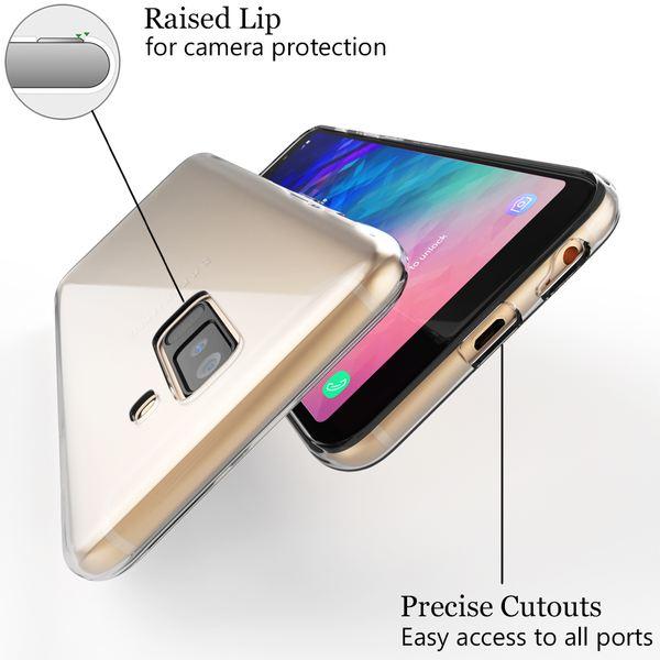 NALIA Handyhülle kompatibel mit Samsung Galaxy A6 Plus, Soft Slim TPU Silikon Case Cover, Durchsichtige Crystal Clear Schutzhülle, Dünnes Etui Handy-Tasche Backcover Transparent Schutz Bumper – Bild 4