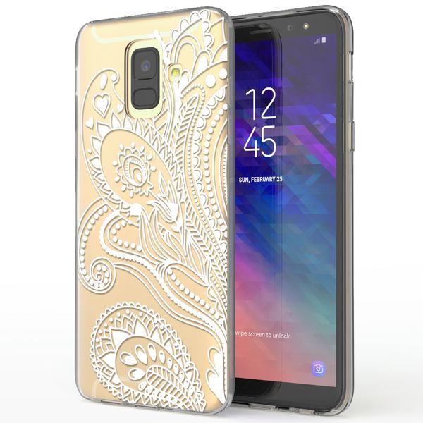 NALIA Handyhülle kompatibel mit Samsung Galaxy A6, Silikon Hülle Motiv Crystal Case Schutzhülle Durchsichtig Dünn, Etui Handy-Tasche Back-Cover Transparent Bumper – Bild 2