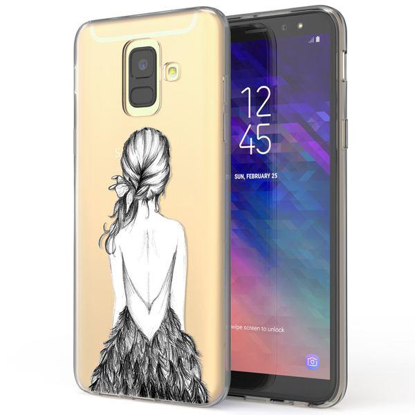 NALIA Handyhülle kompatibel mit Samsung Galaxy A6, Silikon Hülle Motiv Crystal Case Schutzhülle Durchsichtig Dünn, Etui Handy-Tasche Back-Cover Transparent Bumper – Bild 10