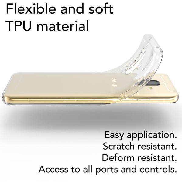 NALIA Handyhülle kompatibel mit Samsung Galaxy A6, Silikon Hülle Motiv Crystal Case Schutzhülle Durchsichtig Dünn, Etui Handy-Tasche Back-Cover Transparent Bumper – Bild 12