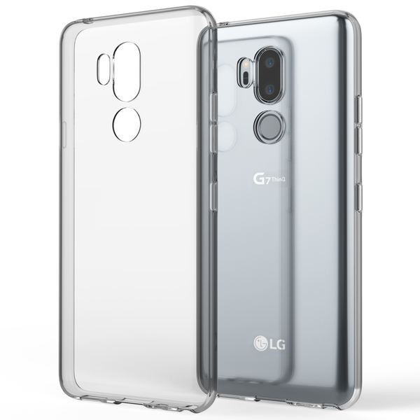 NALIA Handyhülle kompatibel mit LG G7 ThinQ, Soft Slim TPU Silikon Case Cover Crystal Clear Schutzhülle Dünn Durchsichtig, Etui Handy-Tasche Backcover Transparent, Smart-Phone Schutz Bumper – Bild 1