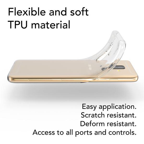NALIA Handyhülle kompatibel mit Samsung Galaxy A6 Plus, Slim Silikon Motiv Etui Case Schutzhülle Dünn Durchsichtig, Handy-Tasche Back-Cover Transparent Bumper – Bild 4