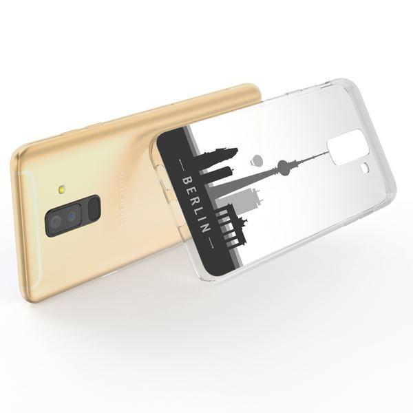 NALIA Handyhülle kompatibel mit Samsung Galaxy A6 Plus, Slim Silikon Motiv Etui Case Schutzhülle Dünn Durchsichtig, Handy-Tasche Back-Cover Transparent Bumper – Bild 7