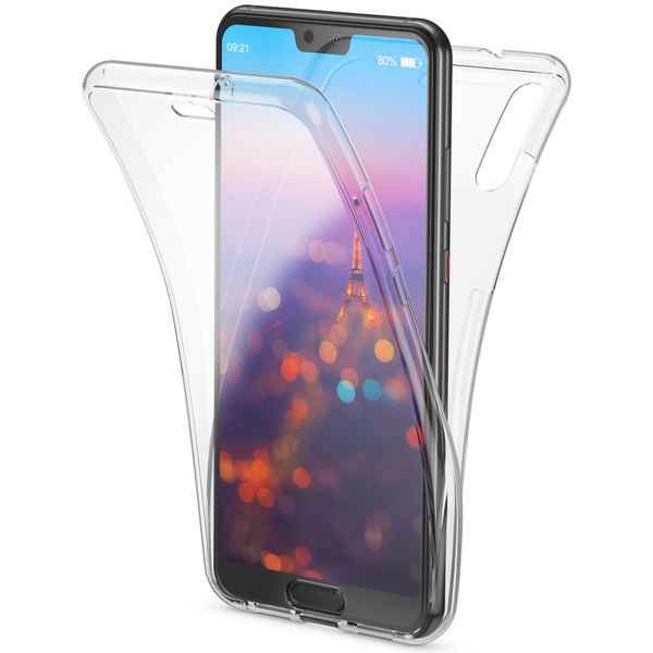 NALIA 360 Grad Handyhülle für Huawei P20, Full-Cover vorne hinten Rundum Hülle Doppel-Schutz, Dünn Ganzkörper Case Silikon Etui Handytasche, Transparenter Displayschutz Rückseite – Bild 2