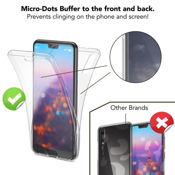 NALIA 360 Grad Handyhülle für Huawei P20, Full-Cover vorne hinten Rundum Hülle Doppel-Schutz, Dünn Ganzkörper Case Silikon Etui Handytasche, Transparenter Displayschutz Rückseite – Bild 25