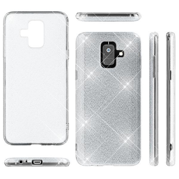 NALIA Glitter Hülle kompatibel mit Samsung Galaxy A6, Glitzer Handyhülle Ultra-Slim Silikon-Case Back-Cover Schutzhülle, Sparkle Handy-Tasche Bumper, Dünnes Bling Strass Etui – Bild 22