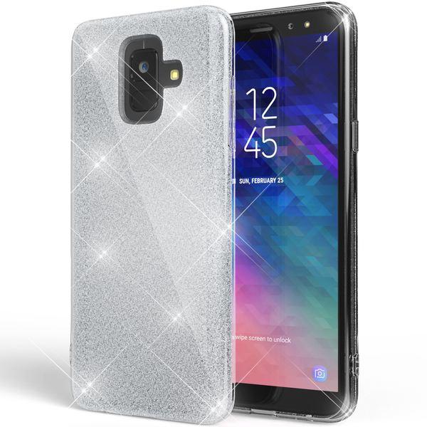 NALIA Glitter Hülle kompatibel mit Samsung Galaxy A6, Glitzer Handyhülle Ultra-Slim Silikon-Case Back-Cover Schutzhülle, Sparkle Handy-Tasche Bumper, Dünnes Bling Strass Etui – Bild 23