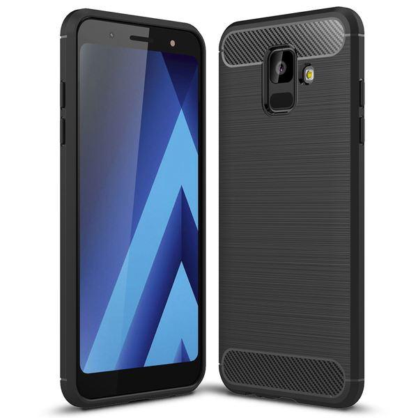 NALIA Handyhülle kompatibel mit Samsung Galaxy A6, Ultra Slim Silikon Case Cover, Dünne Crystal Phone Schutzhülle, Stoßfeste Etui Handy-Tasche Back-Cover Bumper, TPU Gummihülle - Schwarz – Bild 1