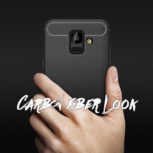 NALIA Handyhülle kompatibel mit Samsung Galaxy A6, Ultra Slim Silikon Case Cover, Dünne Crystal Phone Schutzhülle, Stoßfeste Etui Handy-Tasche Back-Cover Bumper, TPU Gummihülle - Schwarz – Bild 6