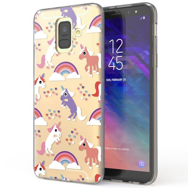 NALIA Handyhülle kompatibel mit Samsung Galaxy A6, Slim Silikon Motiv Case Cover Crystal Schutzhülle Dünn Durchsichtig, Etui Handy-Tasche Backcover Transparent Bumper – Bild 2