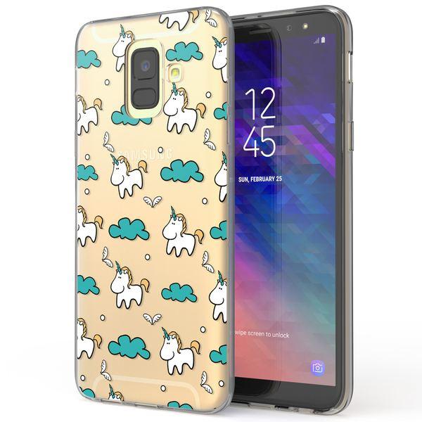 NALIA Handyhülle kompatibel mit Samsung Galaxy A6, Slim Silikon Motiv Case Cover Crystal Schutzhülle Dünn Durchsichtig, Etui Handy-Tasche Backcover Transparent Bumper – Bild 14