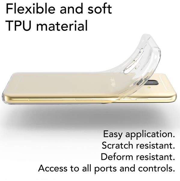 NALIA Handyhülle kompatibel mit Samsung Galaxy A6, Slim Silikon Motiv Case Cover Crystal Schutzhülle Dünn Durchsichtig, Etui Handy-Tasche Backcover Transparent Bumper – Bild 16