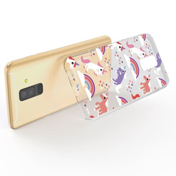 NALIA Handyhülle kompatibel mit Samsung Galaxy A6 Plus, Slim Silikon Motiv Case Crystal Schutzhülle Dünn Durchsichtig, Etui Handy-Tasche Back-Cover Transparent Bumper – Bild 3