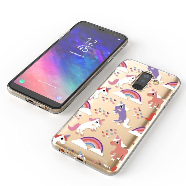 NALIA Handyhülle kompatibel mit Samsung Galaxy A6 Plus, Slim Silikon Motiv Case Crystal Schutzhülle Dünn Durchsichtig, Etui Handy-Tasche Back-Cover Transparent Bumper – Bild 8