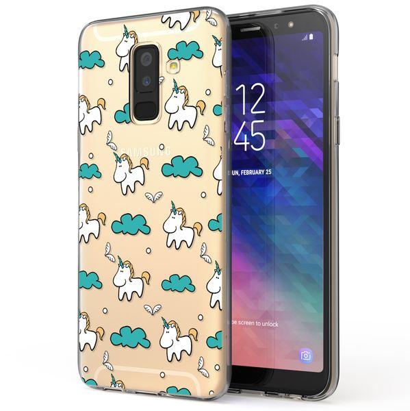 NALIA Handyhülle kompatibel mit Samsung Galaxy A6 Plus, Slim Silikon Motiv Case Crystal Schutzhülle Dünn Durchsichtig, Etui Handy-Tasche Back-Cover Transparent Bumper – Bild 16