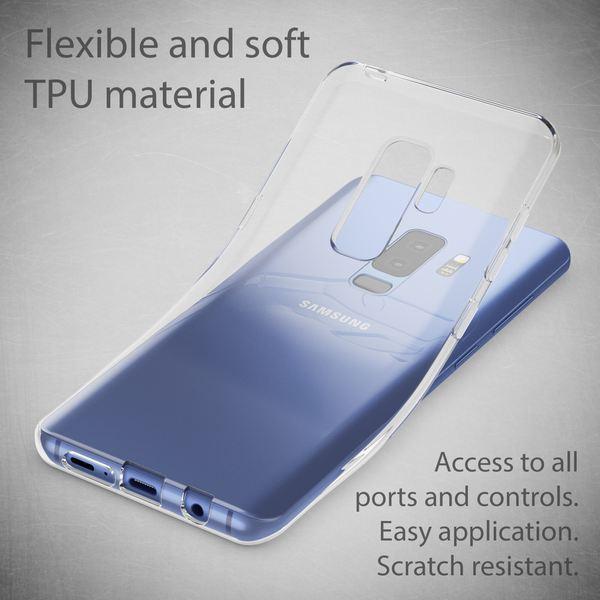 NALIA Handyhülle kompatibel mit Samsung Galaxy S9 Plus, Slim Silikon Motiv Case Schutzhülle Dünn Durchsichtig, Etui Handy-Tasche Back-Cover Transparent Bumper – Bild 4
