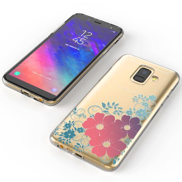 NALIA Handyhülle kompatibel mit Samsung Galaxy A6, Silikon Motiv Crystal Case Schutzhülle Durchsichtig Dünn, Etui Handy-Tasche Back-Cover Transparent Bumper – Bild 14